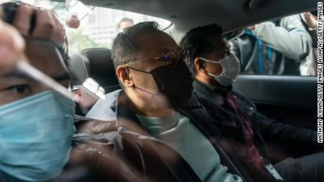 Benny Tai, a prominent Hong Kong activist, is seen after being arrested by police on January 6, 2020.