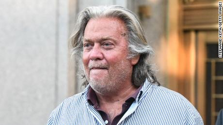 Former White House Chief Strategist Steve Bannon exits the Manhattan Federal Court on August 20, 2020 in the Manhattan borough of New York City.