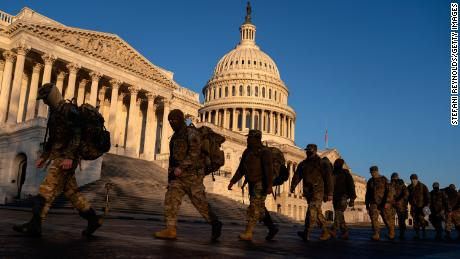 Pentagon authorizes arming of National Guard members supporting Capitol security