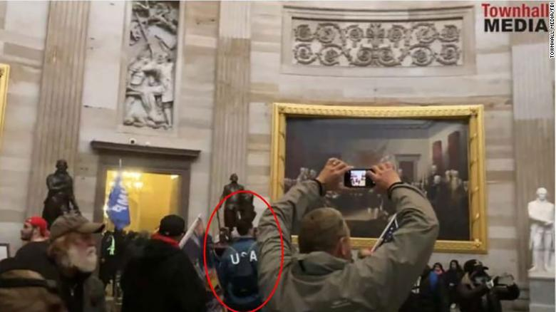 Keller was seen wearing a US Olympic Team jacket as part of the mob in the Capitol on January 6.