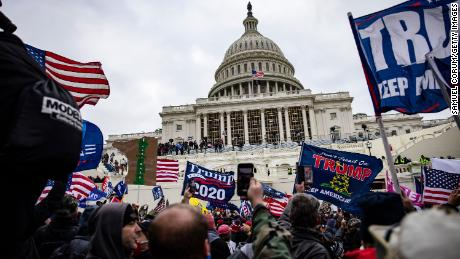 Pro-Trump supporters storm the US Capitol on January 6, 2021