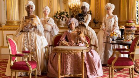 "Golda Rosheuvel as Queen Charlotte in ""Bridgerton"""