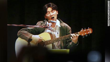 A hologram concert of late South Korean singer Kim Kwang-seok was held in his hometown of Daegu on June 10, 2016.
