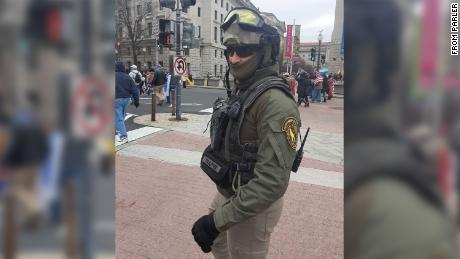 Former Marine Donovan was in military apparel at the Kraul Capital.