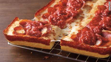 Pizza Hut's new Detroit-style pizza rolled out on Tuesday.
