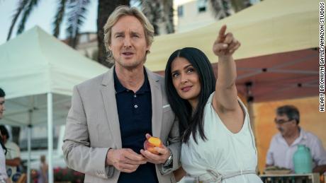 "Owen Wilson (left) and Salma Hayek (right) star in ""Bliss."""