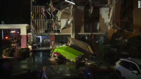 A hotel near Birmingham suffered significant damage after a tornado ripped through the area.