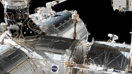 NASA astronauts Victor Glover, Mike Hopkins operate the spacewalk on Wednesday