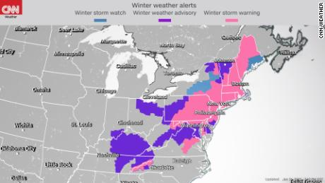 Winter storm watches and warniings through Tuesday