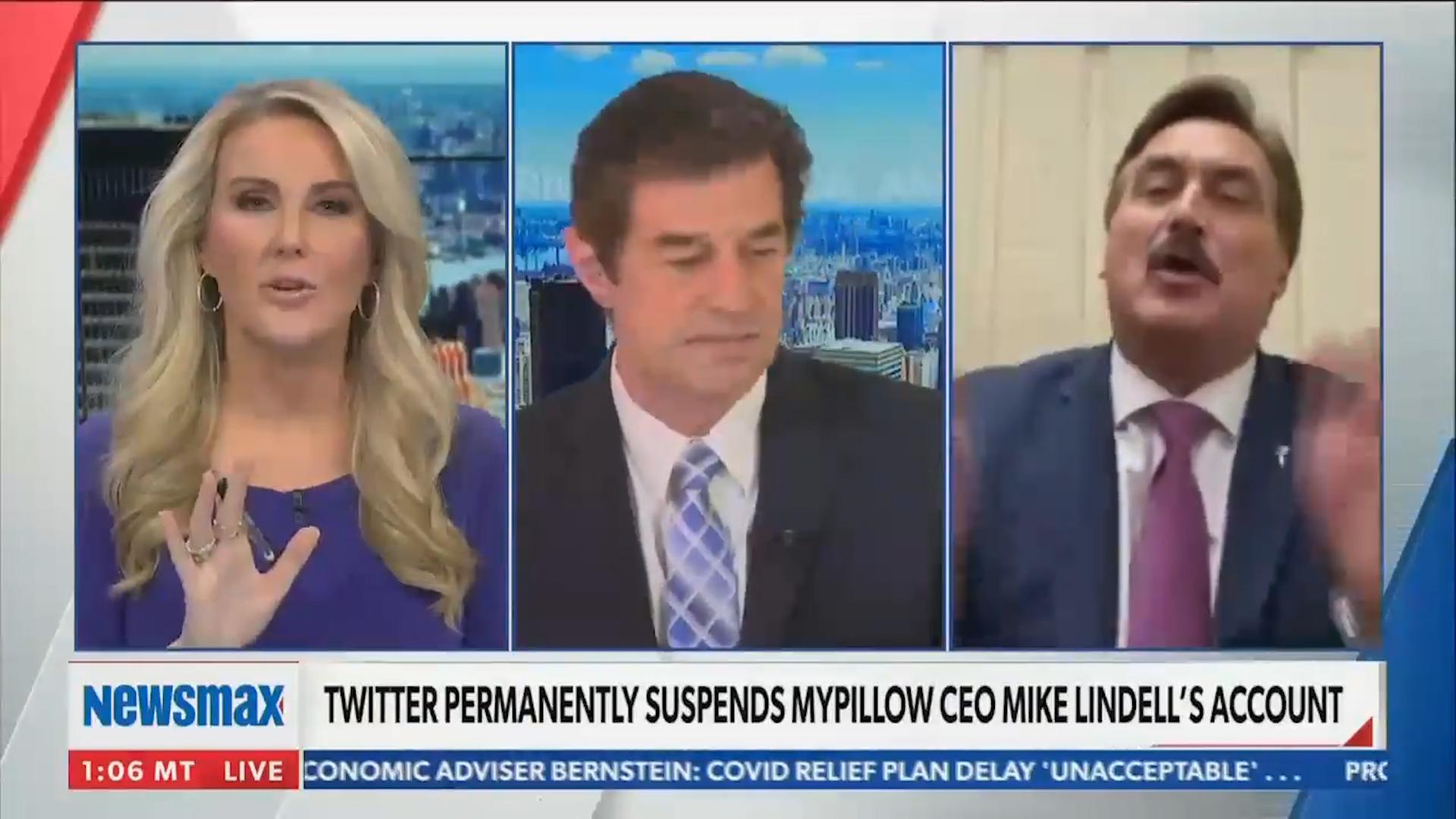 watch newsmax anchor walk off set during mypillow ceo interview