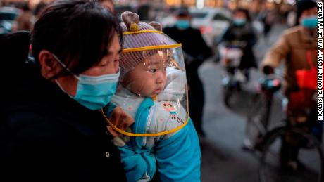 In January 2021, a woman and her child were seen in the Chinese city of Wuhan.