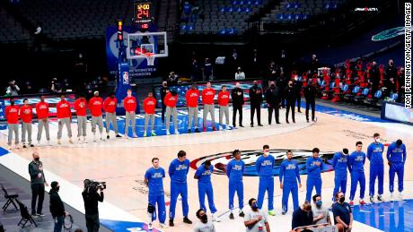 Wednesday marked the first time this season where the Mavericks have played the National Anthem before a game.