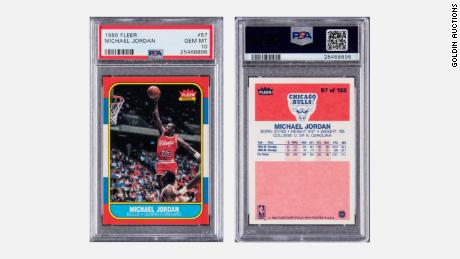 Michael Jordan 1986 Flair Rookie Card, which closed on February 1, sold for $ 738,000 at auction.