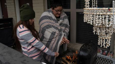 On February 16, Carla Perez and Alexandra Gonzalez were heated by a barbecue grill during a power outage due to a winter storm.