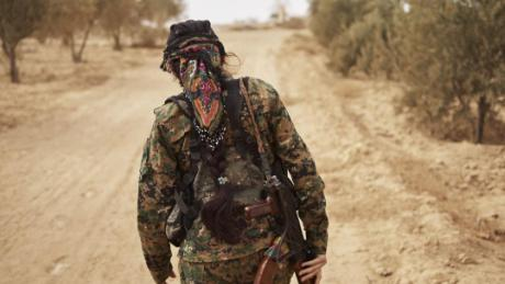 Member of Women's Protection Units during the ISIS fight