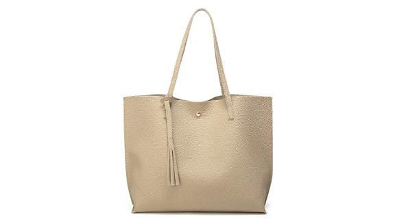 Dreubea Faux Leather Tote Bag