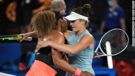 Naomi Osaka proved to be too good for Jennifer Brady on the night.