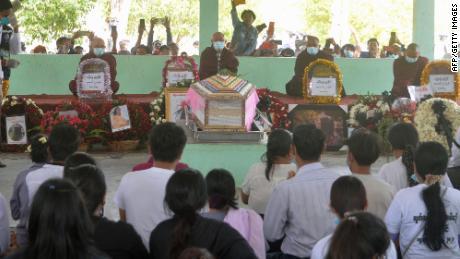 Mya Thweh Thweh Khine's funeral in Naypyidaw on February 21.