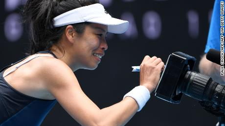 Hsieh captured the hearts of the public with her positive attitude.