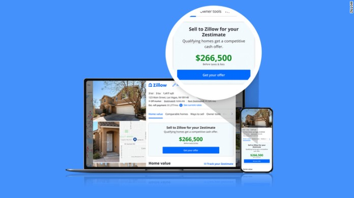 """Zillow's """"Zestimates"""" will now represent initial cash offers to homeowners in some markets."""