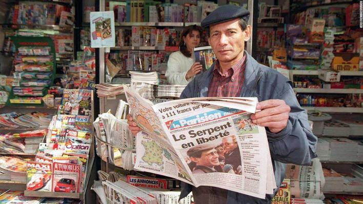 Charles Sobhraj in Paris in 1997, following his release from an Indian prison after 21 years.