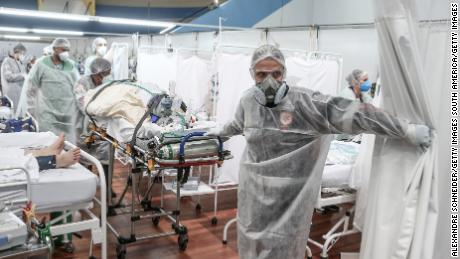 Brazil's Covid-19 resurgence is pushing hospitals to overflowing