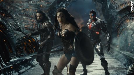 (From left) Jason Momoa, Gal Gadot and Ray Fisher Star & quot;  Zack Snyder's Justice League & quot;