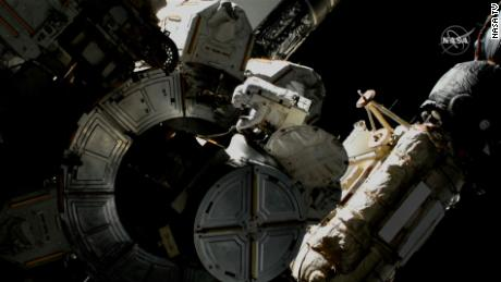 The spacewalk conducted March 13 was the 237th spacewalk overall in support of the space station.