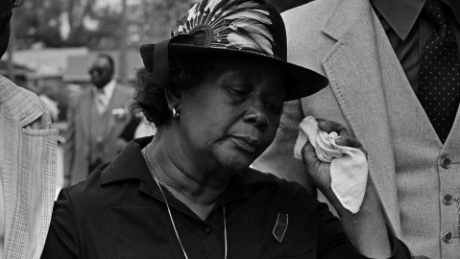 Beulah Mae Donald attends the funeral for her son, Michael Donald.