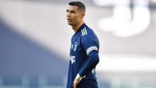 Ronaldo looks on during Juventus' defeat.