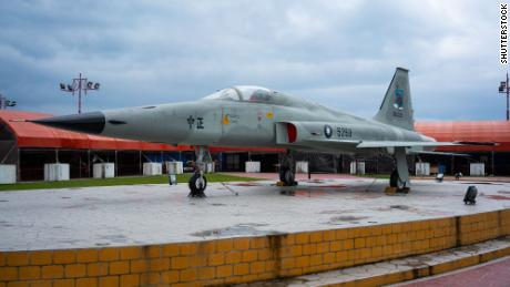 February 2018 file photo shows a Taiwanese F-5E fighter jet