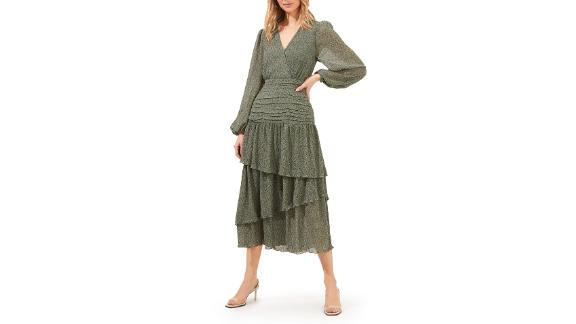 Astr The Label Ruched Tiered Ruffle Dress