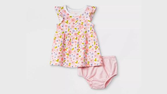Cat & Jack Floral Ruffle Sleeve Dress