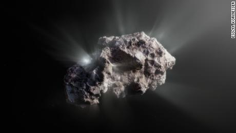 Pristine interstellar comet came from a system containing giant planets