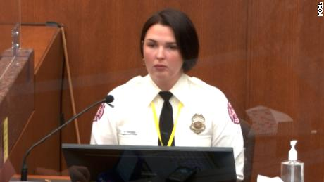 Genevieve Hansen, an off-duty firefighter, said police would not let her render aid to George Floyd.