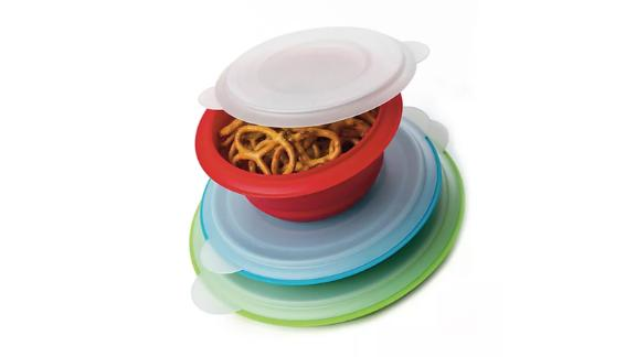 Prepworks Collapsible Storage Bowls with Lids, Set of 3