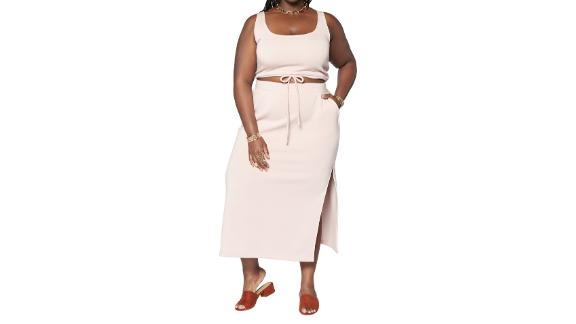 Zelie For She Wilderness Cozy Crop Tank & Maxi Skirt