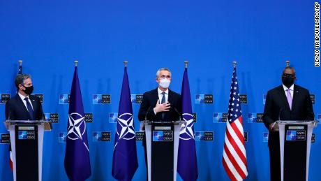 US and other NATO members pledge support to Ukraine while walking fine line with Russia