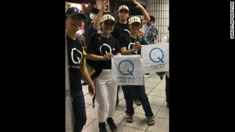 QArmyJapanFlynn believers say they didn't support the Capitol Hill riots. The say their mission is peaceful.
