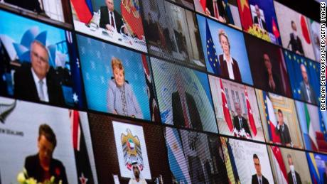 World leaders participate in a US climate summit on April 22, 2021.