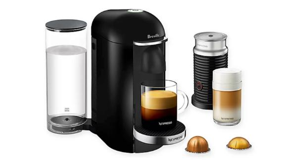 Breville VertuoPlus Deluxe Coffee and Espresso Maker Bundle With Aeroccino