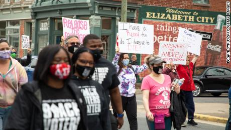 Protesters take to the streets Saturday for the fourth straight day calling for the release of body camera footage of the police killing of Andrew Brown Jr.