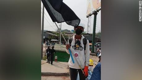 The 19-year-old said he was detained after soldiers found images on his phone of him at protests.