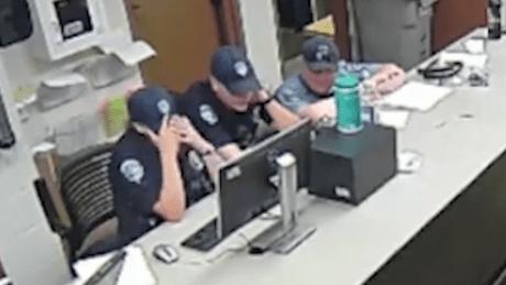 Loveland, Colorado, police see body camera footage of the arrest of Officer Karen Garner.