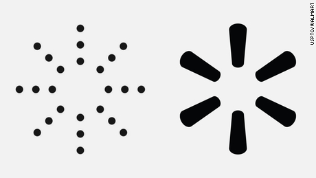 An image of the Yeezy logo on the left and the Walmart logo on the right.