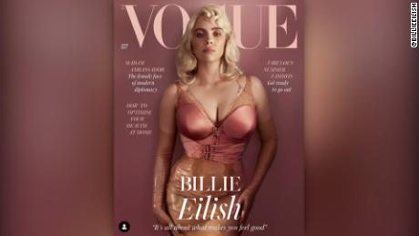 Billie Eilish has a new look on the cover of Britsh Vogue.