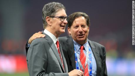 Liverpool owner John W. Henry (left) and chairman Tom Werner after the UEFA Champions League Final at the Wanda Metropolitano, Madrid.