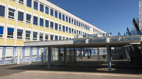 Eugene Delacroix high school in Drancy, a suburb northeast of Paris, where at least 20 pupils have lost a relative to Covid-19.