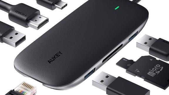 Aukey 8-in-1 USB Type C Adapter