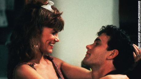 """Tawny Kitaen with Tom Hanks in """"Bachelor Party"""""""